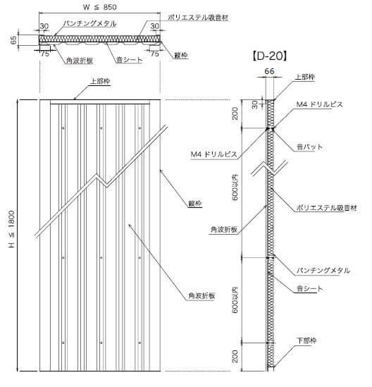エコーパネル構造