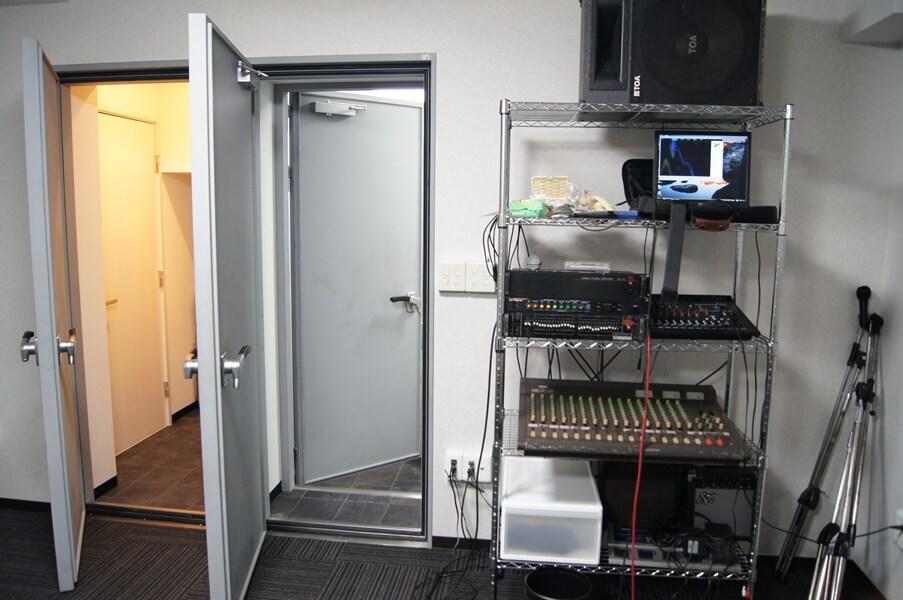 防音ドア2重設置例