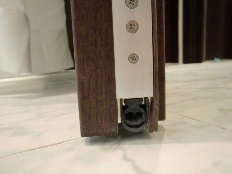 防音ドア-防音ボトム装置戸先側